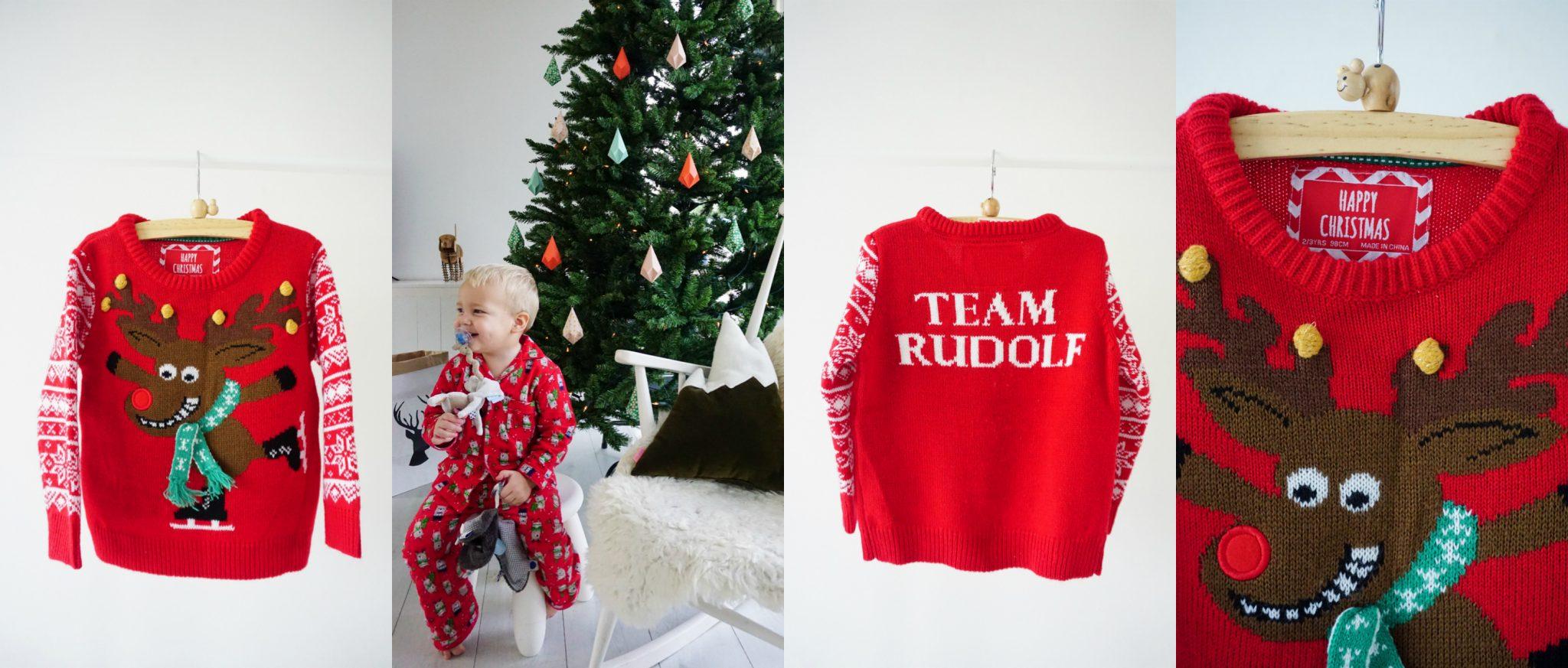 foute kersttrui pyjama