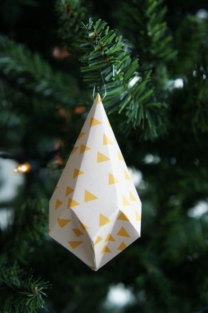diy kerst hanger kristal