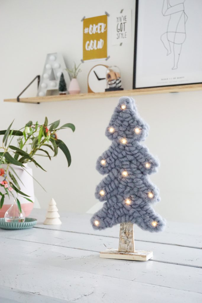 mini kerstboom wol
