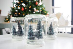 diy kerst glazen potjes
