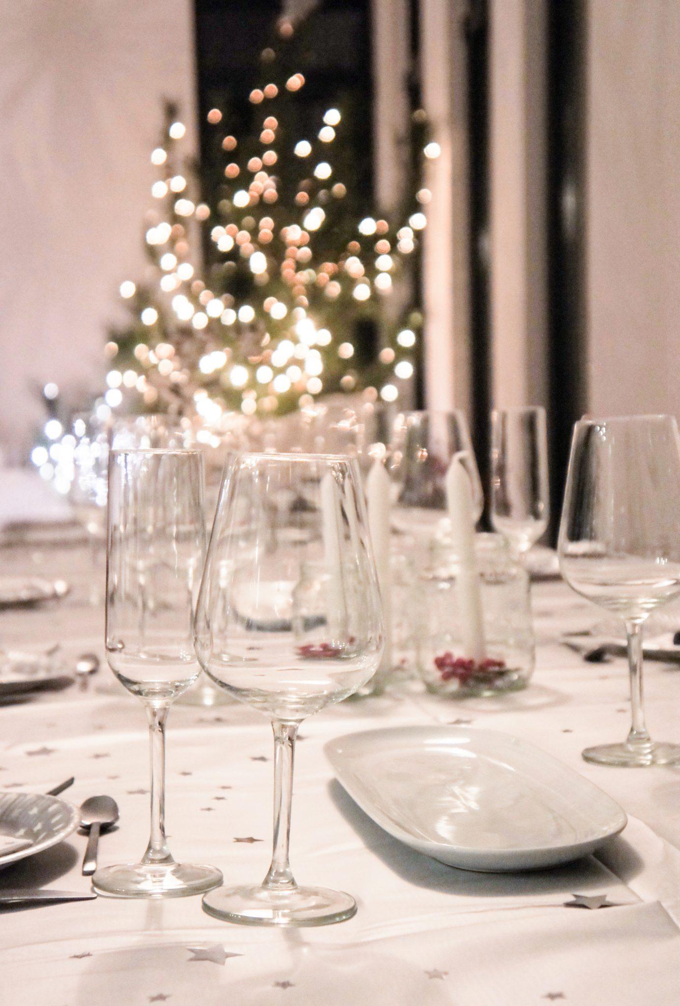 kerst glazen potjes diner