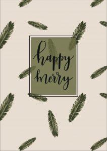free printable kerst poster