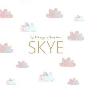wolk geboortekaartje