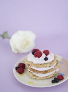 valentijnsontbijt havermoutpannenkoek