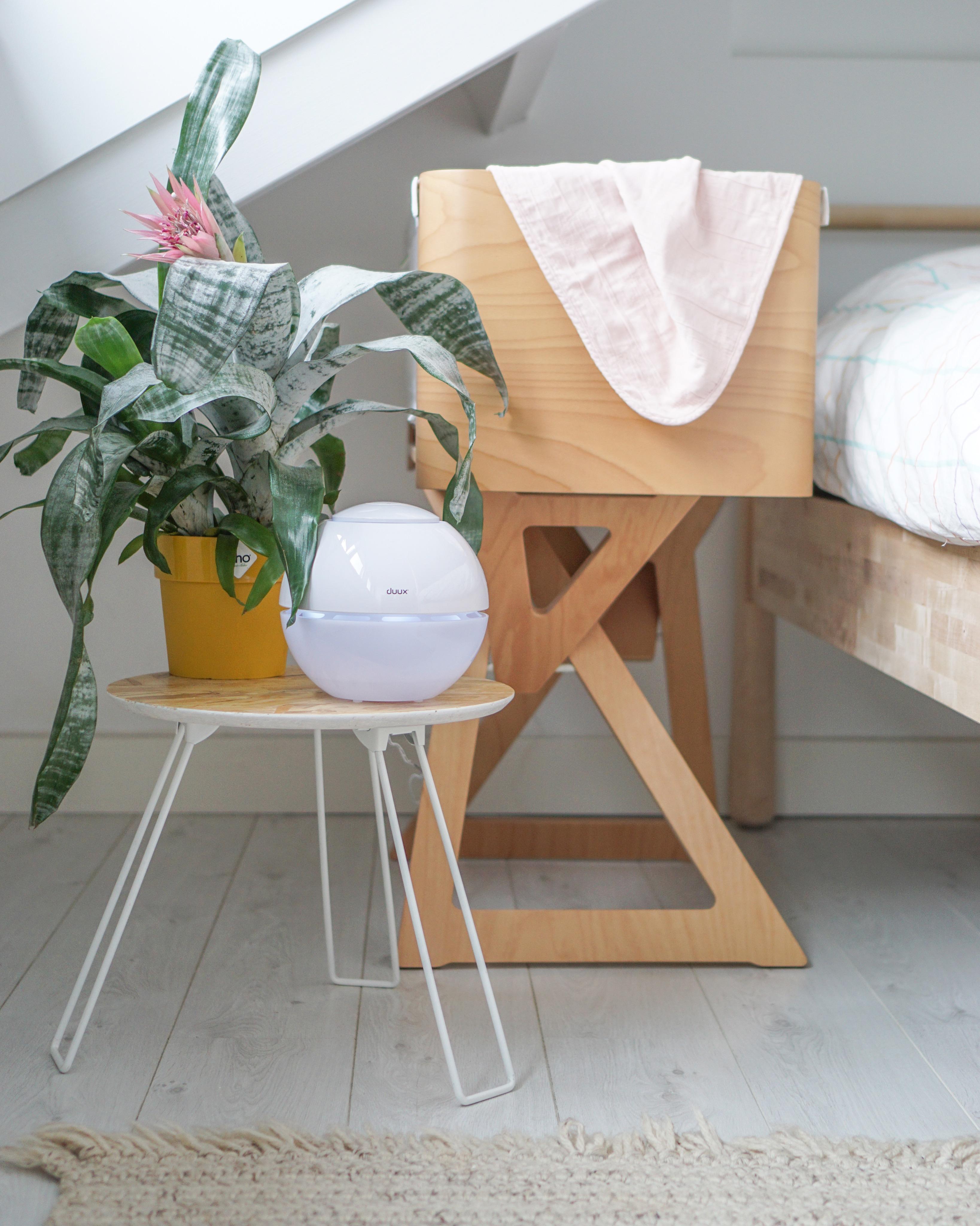 Duux luchtbevochtiger gezonde lucht slaapkamer