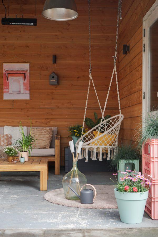 boho hangstiel loungeset karwei tuin plantenbakken