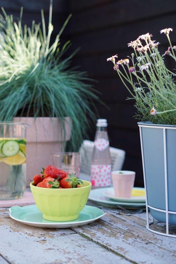 gazpacho van komkommer aardbeien zomer