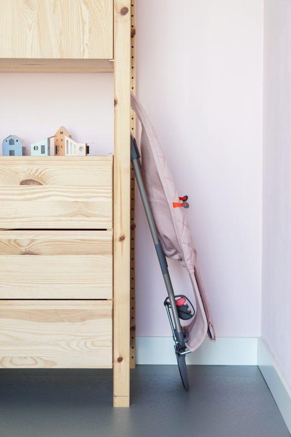 wipstoel makkelijk opruimen babybjorn bliss roze