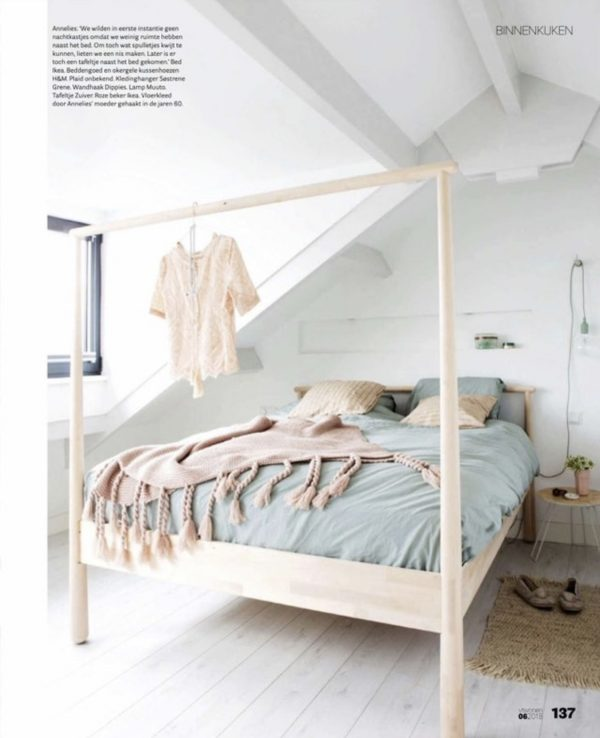 vtwonen binnenkijker slaapkamer scandinavisch wonen woonboot