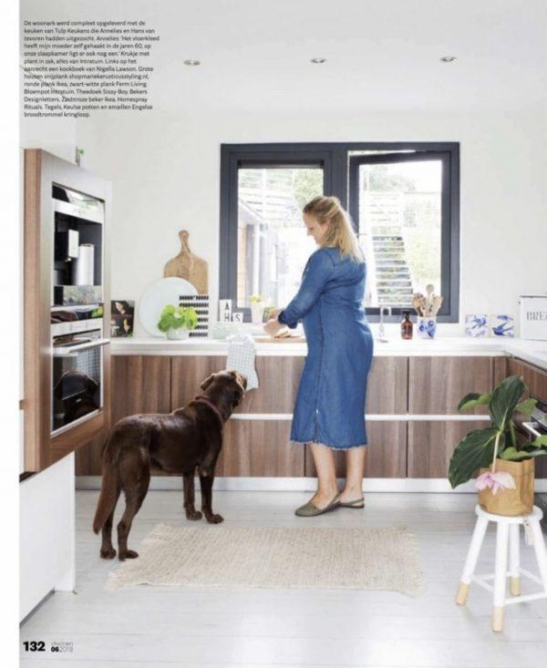 vtwonen reportage keuken woonboot modern scandinavisch wonen