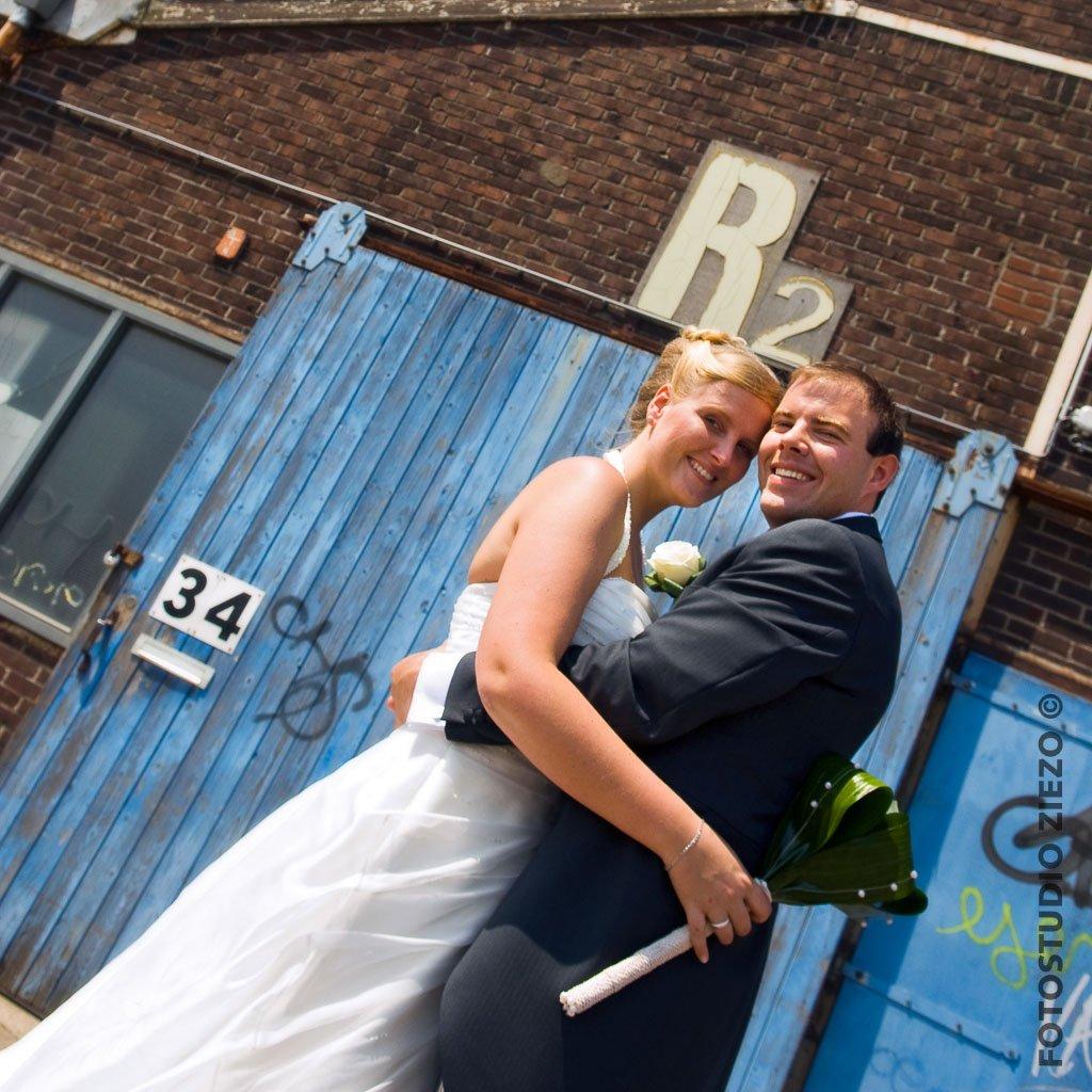 fotoshoot bruiloft ndsm voor de loods