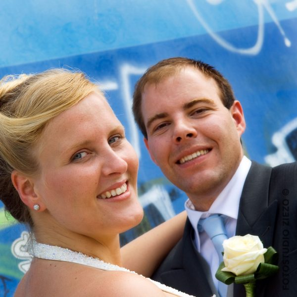 closeup trouwfoto bruid bruidegom studio ziezo gorinchem