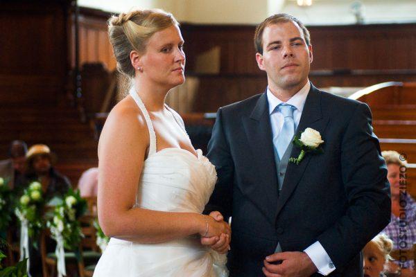 bruidspaar kerkdienst kerkelijk huwelijk noorderkerk amsterdam jordaan