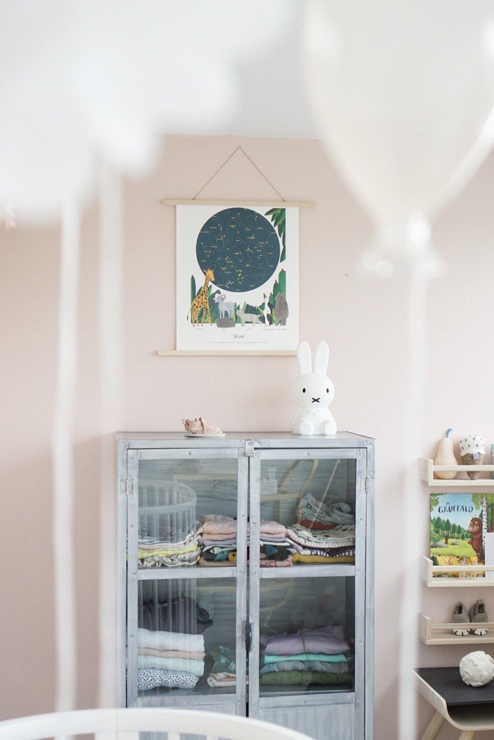 Skye's roze babykamer