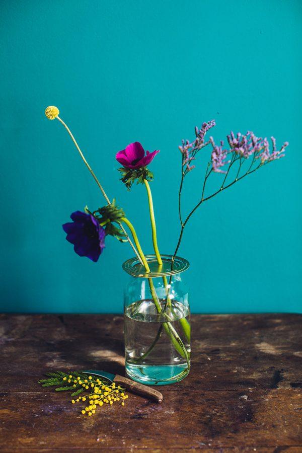 bloemen in vaas bloemschikken diy flower constellations