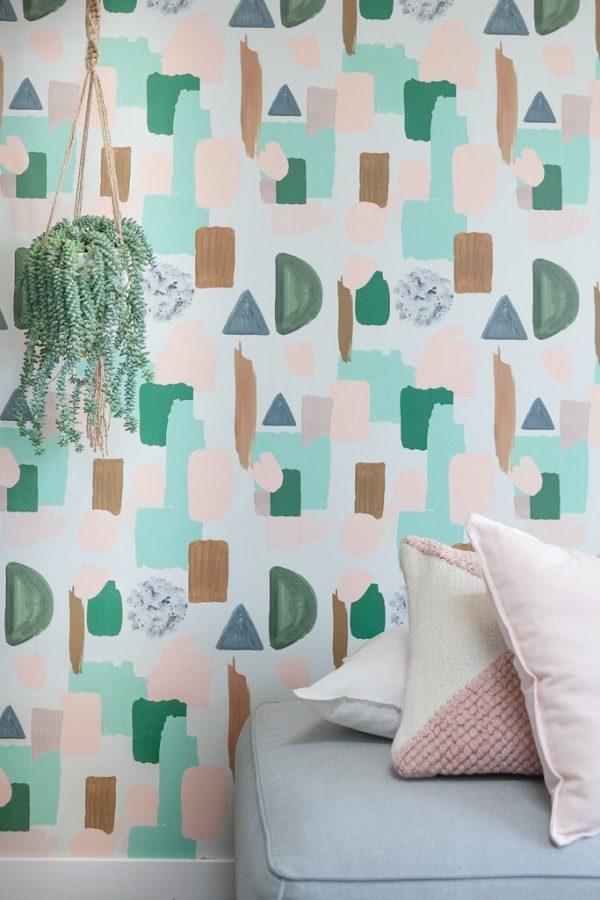 terrazzo pastel behang roomblush scandinavisch wonen interieur interieurtrends 2019