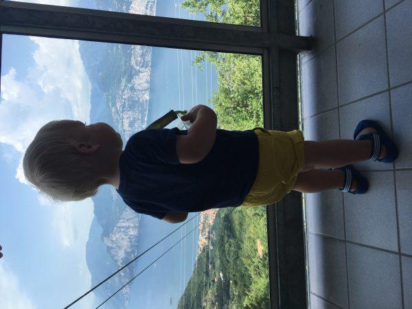 uitzicht bergstation gardameer