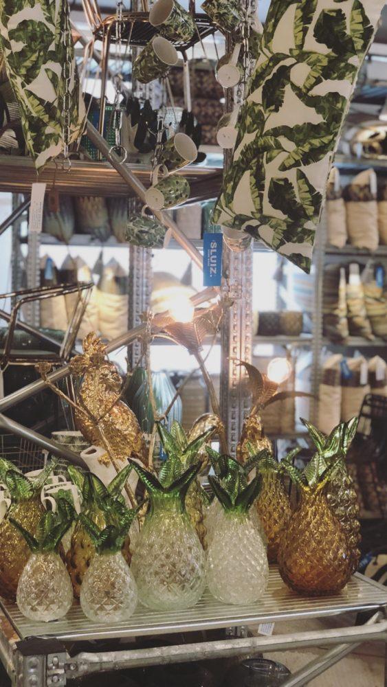 glazen vazen woonwinkel sluiz ibiza