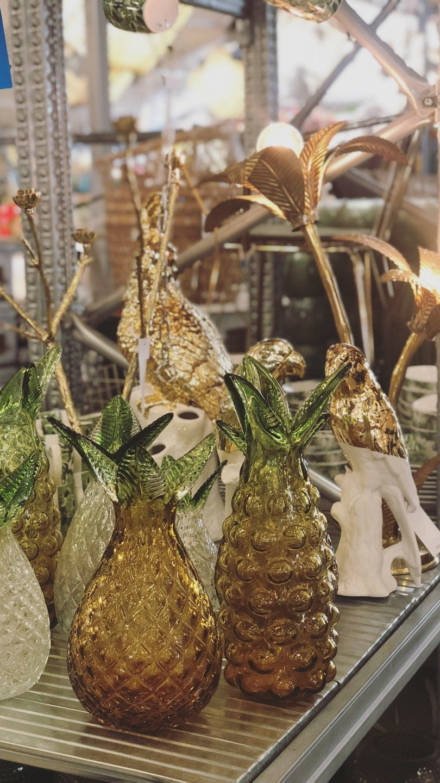 glazen ananas vaas sluiz ibiza