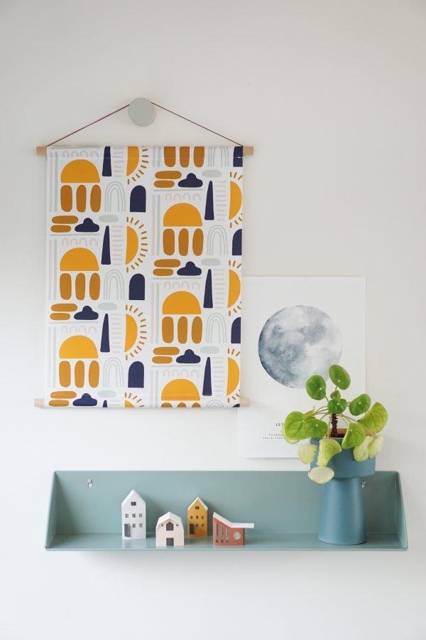 wemaqe textielposter wand wanddecoratie regenboog