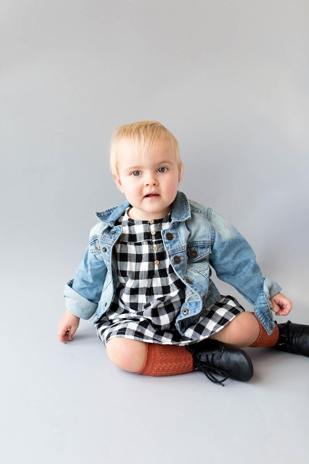 baby outfit jurkje spijkerjasje
