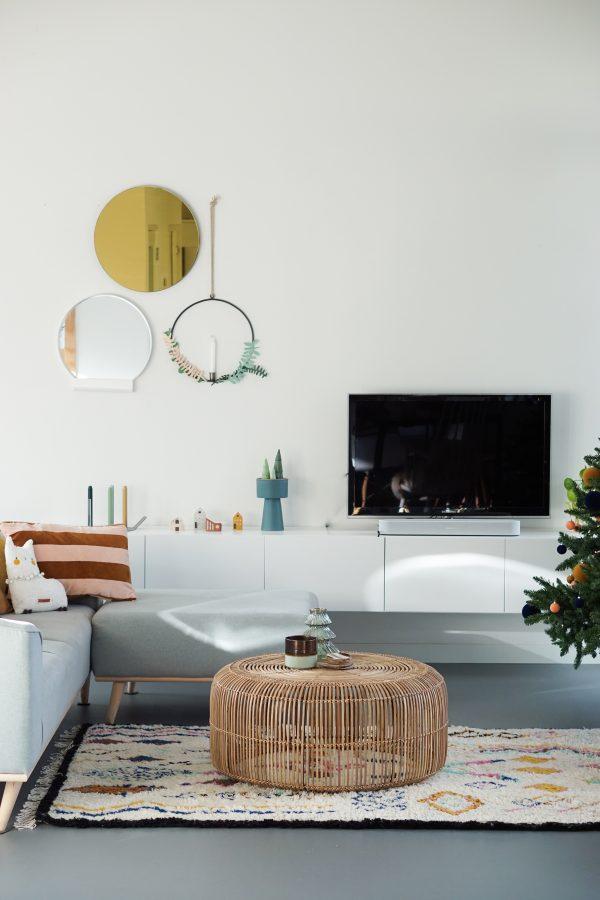 woonkamer kerst versiering