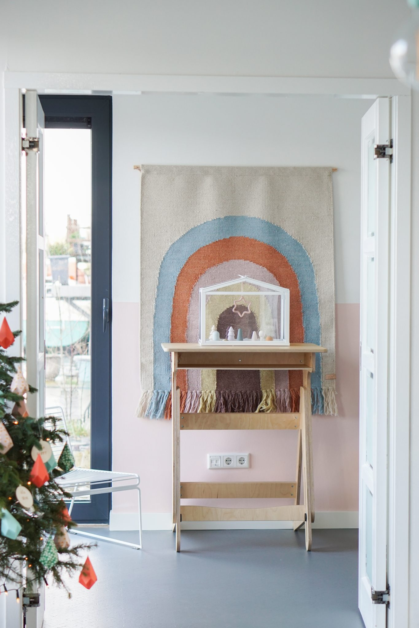 kerst interieur wandkleed