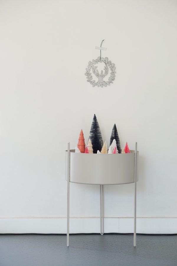 kerstboompjes in bloempot