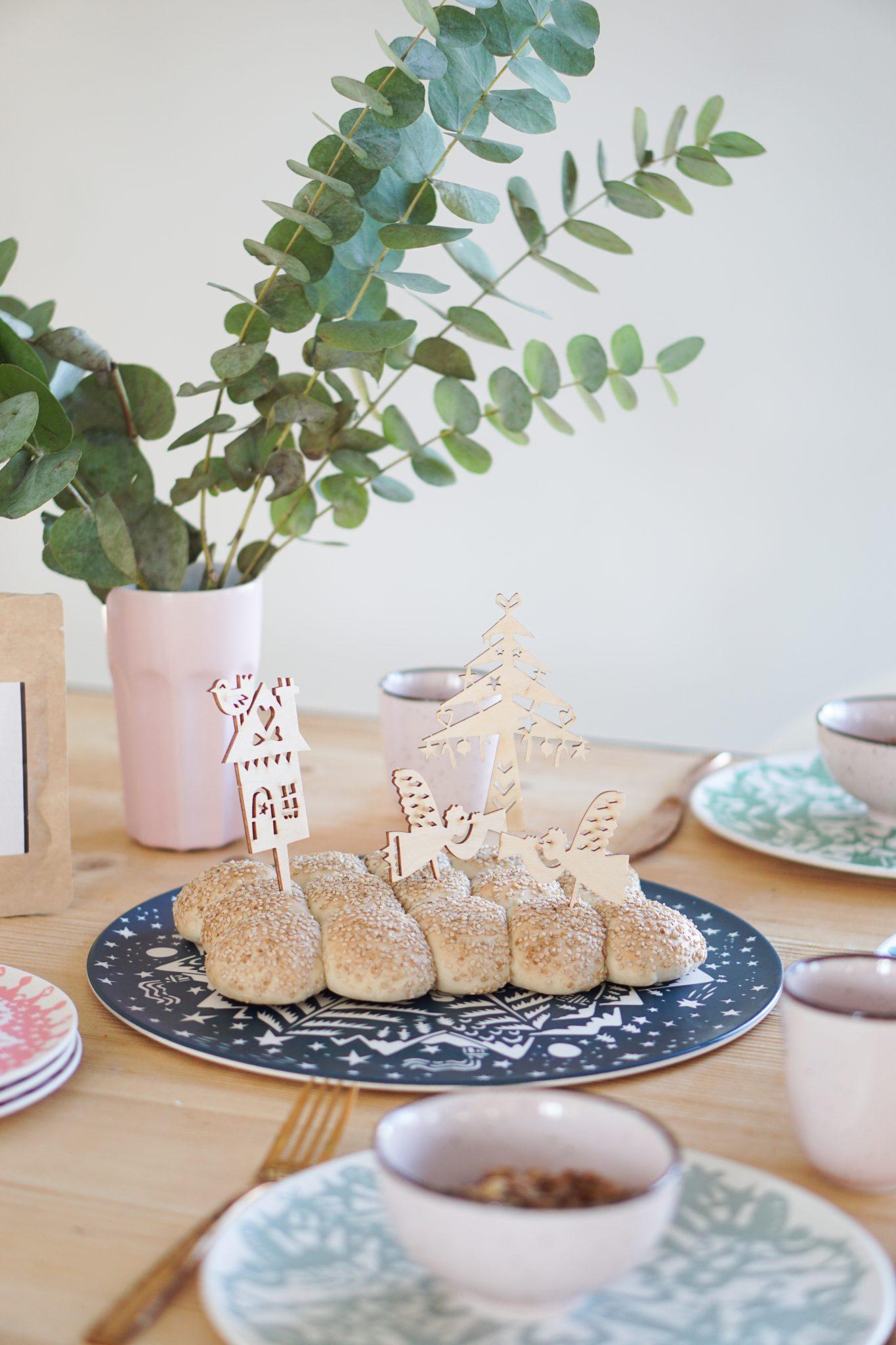 winterservies engel bamboeservies