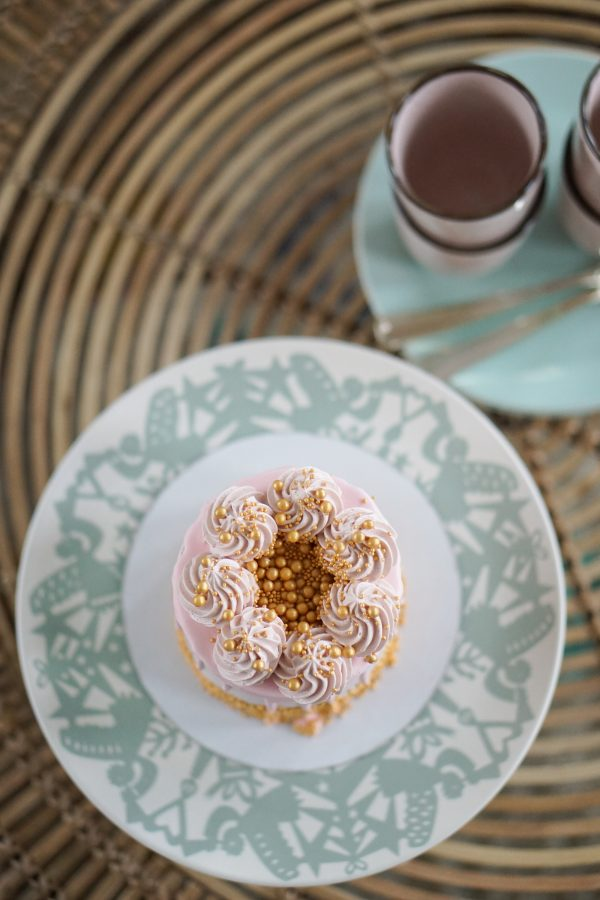 taart pastel servies