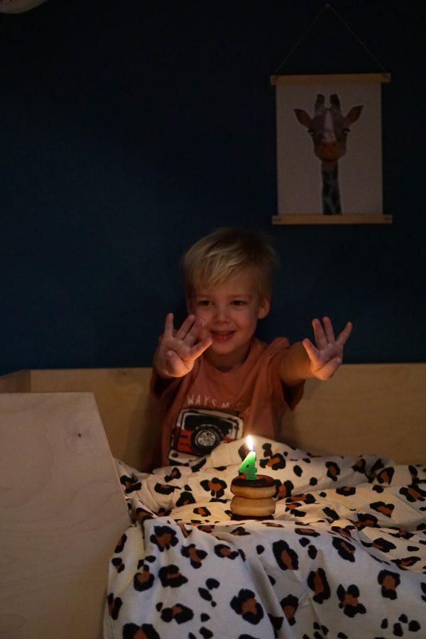 vier jaar kleuter verjaardag