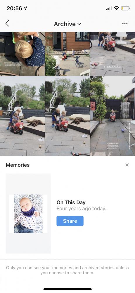 instagram herinnering archief