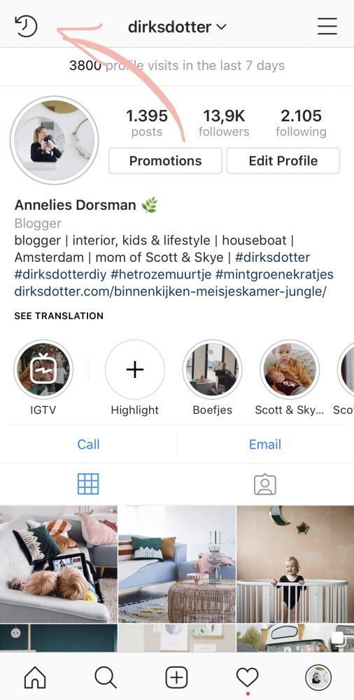 instagram archief