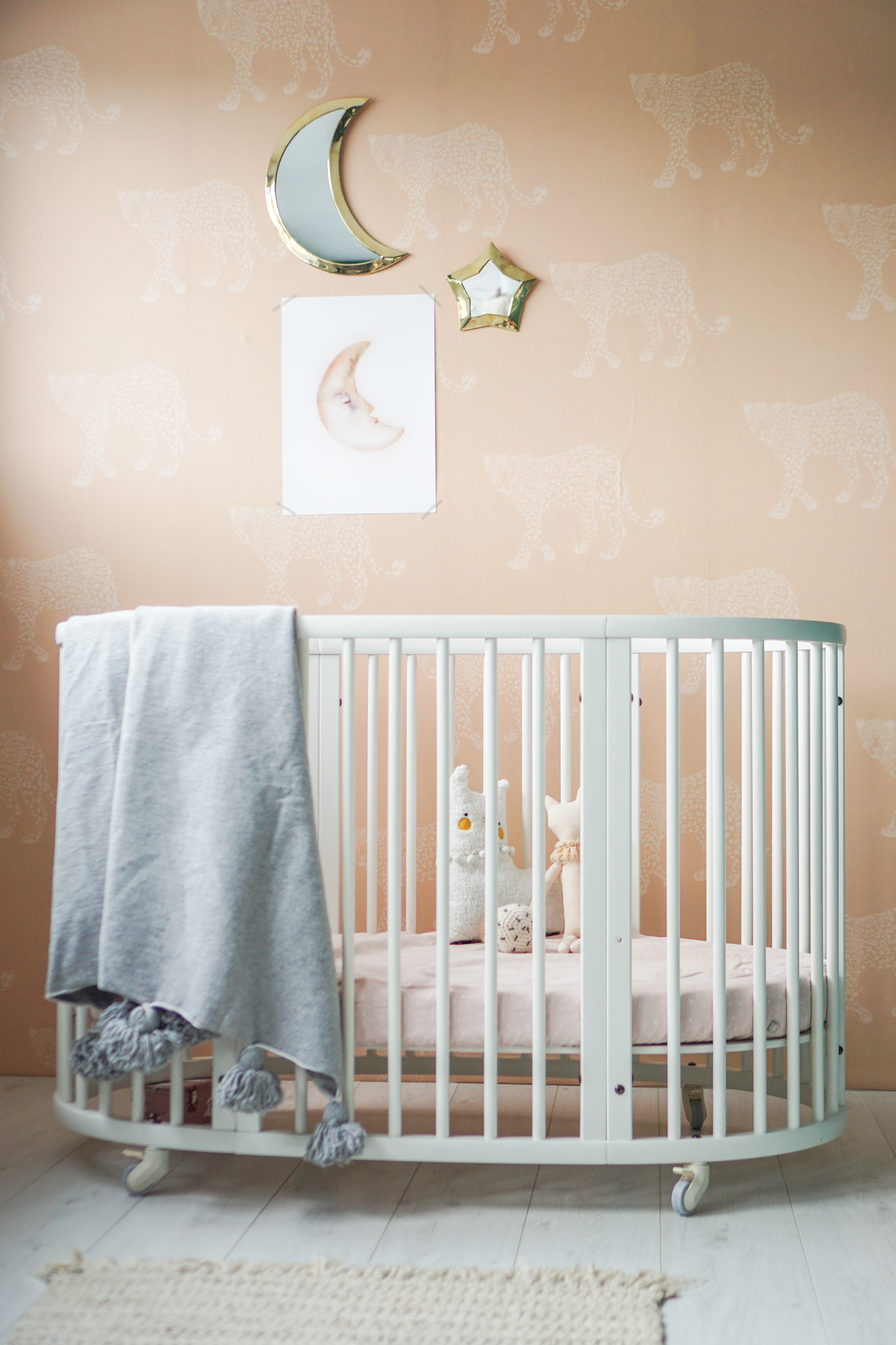 scandinavisch boho interieur babykamer