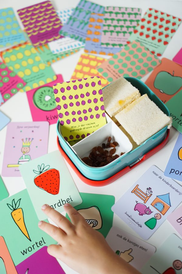 broodtrommelliefde kaartjes voor in de broodtrommel