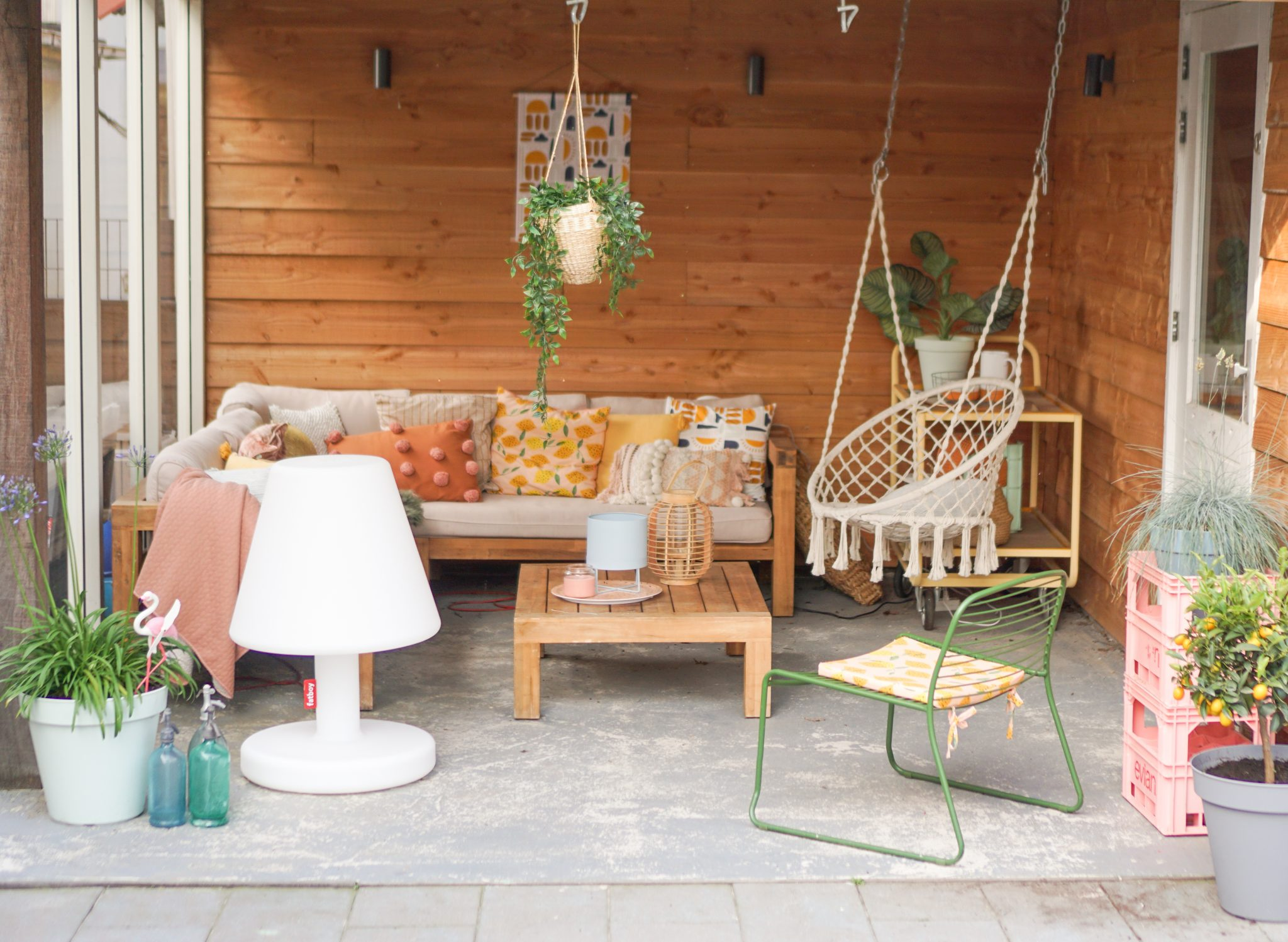 loungehoek boho tuin