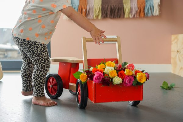 rozen in kinderbakfiets