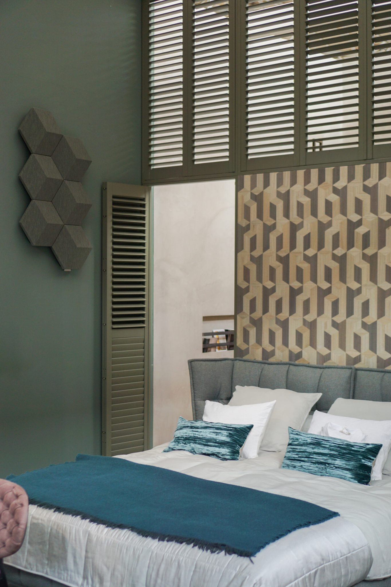slaapkamer groene wand