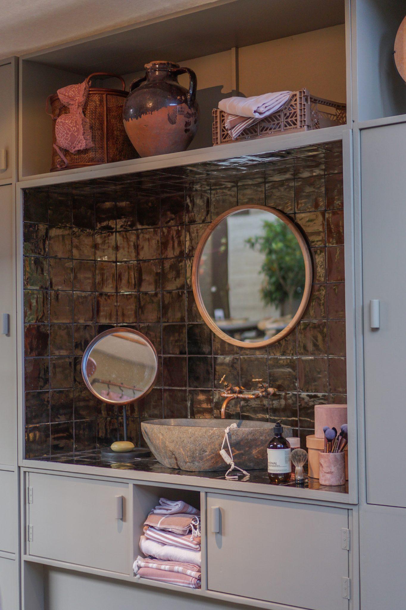 bdakamer ronde spiegel