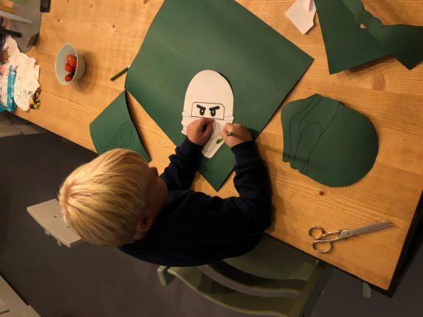 lego ninjago masker maken