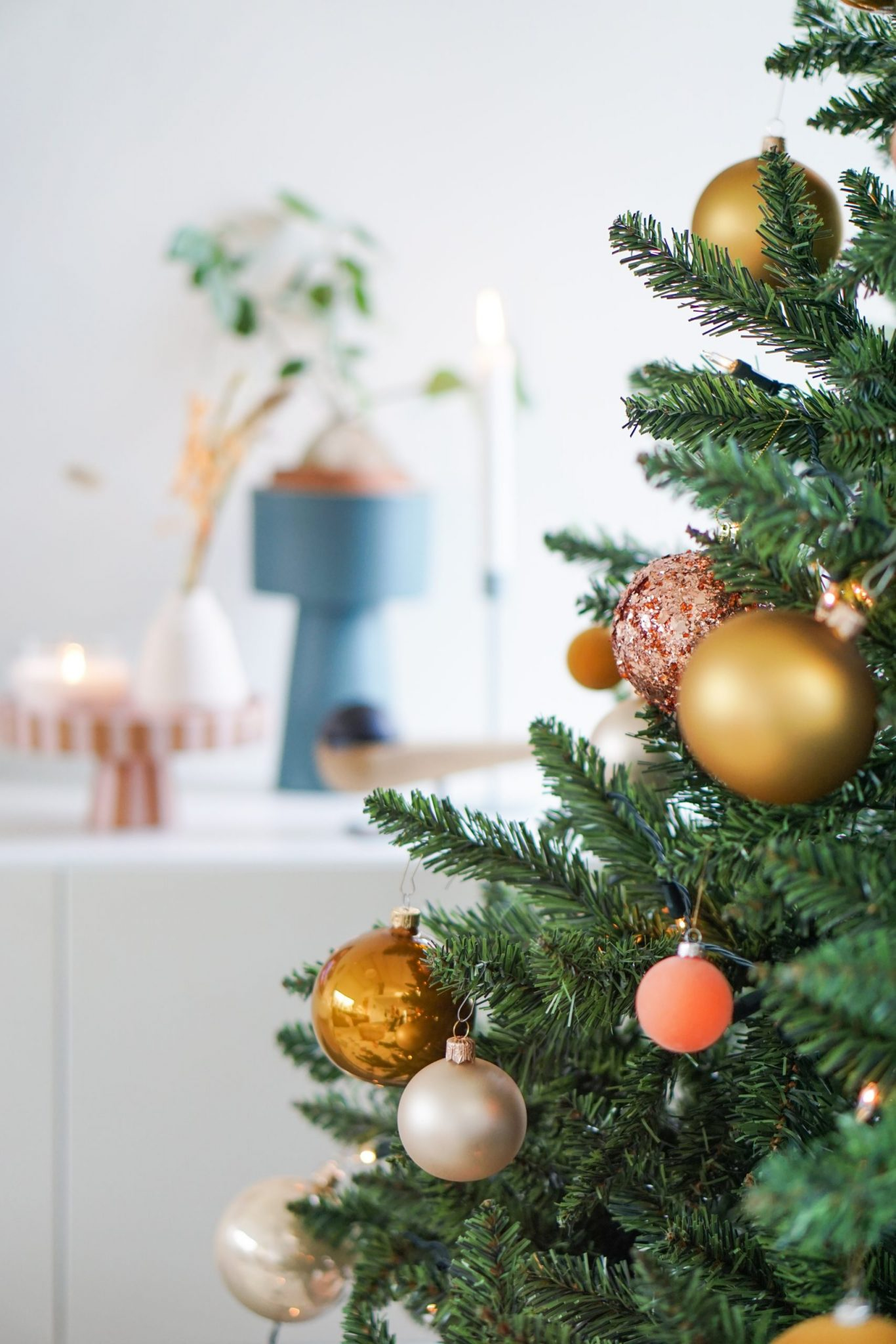 Ons kerst interieur in roze, goud en pastel!