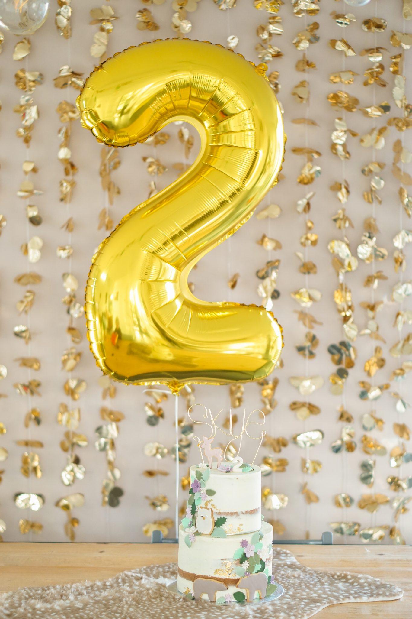 verjaardagstaart twee jaar