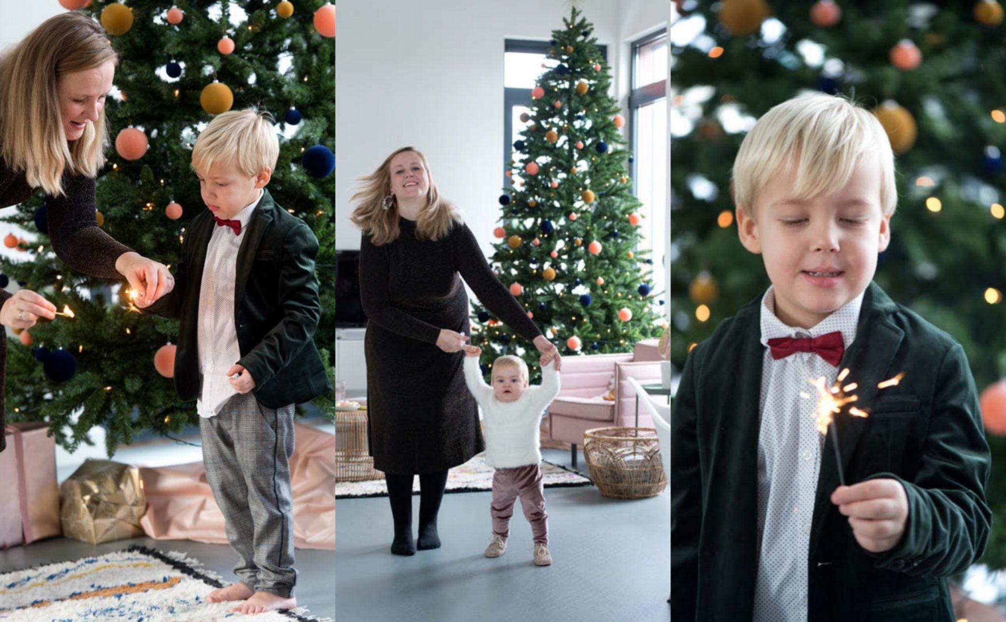 kerst vieren gezin