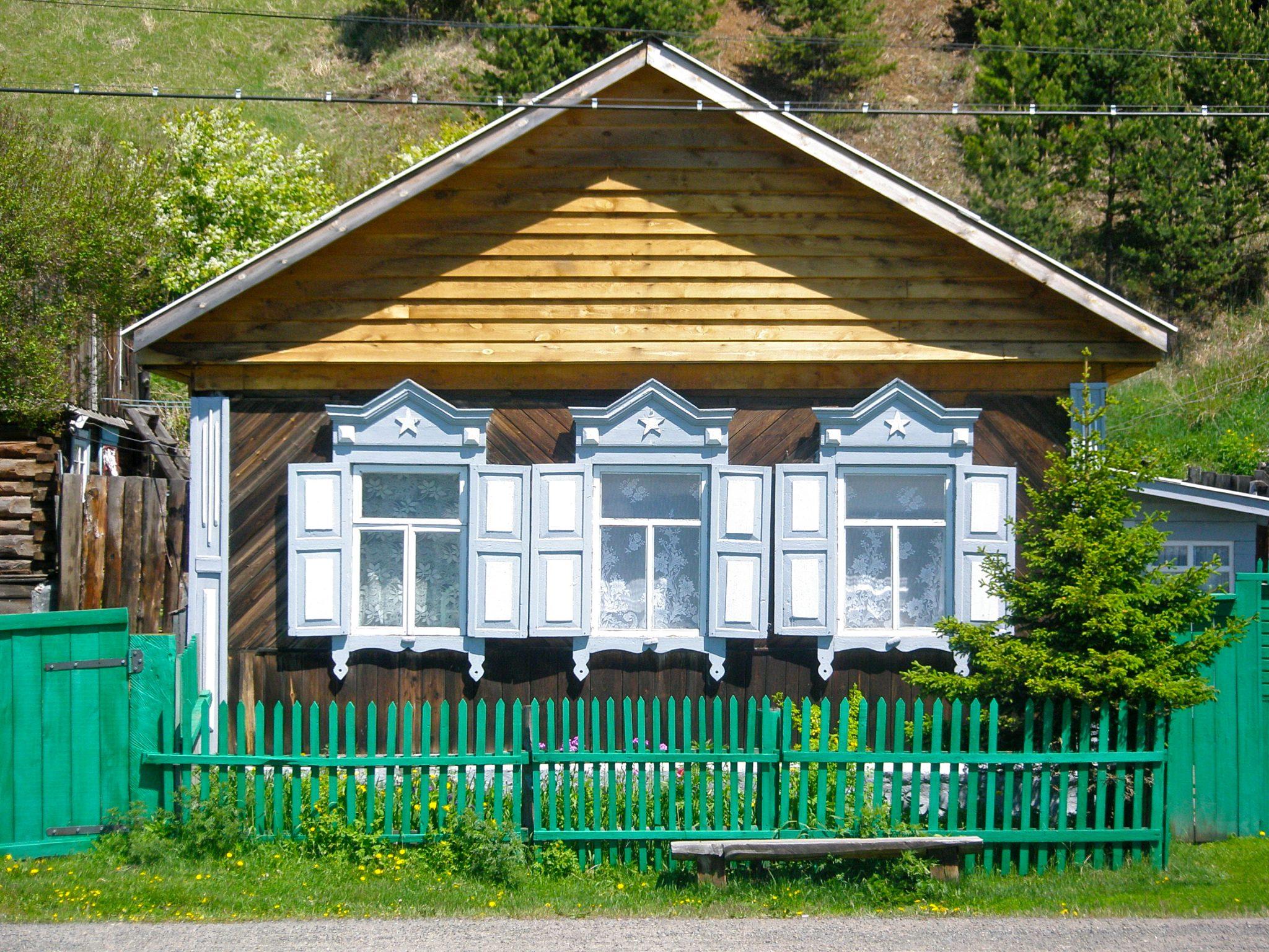 houten huisje rusland