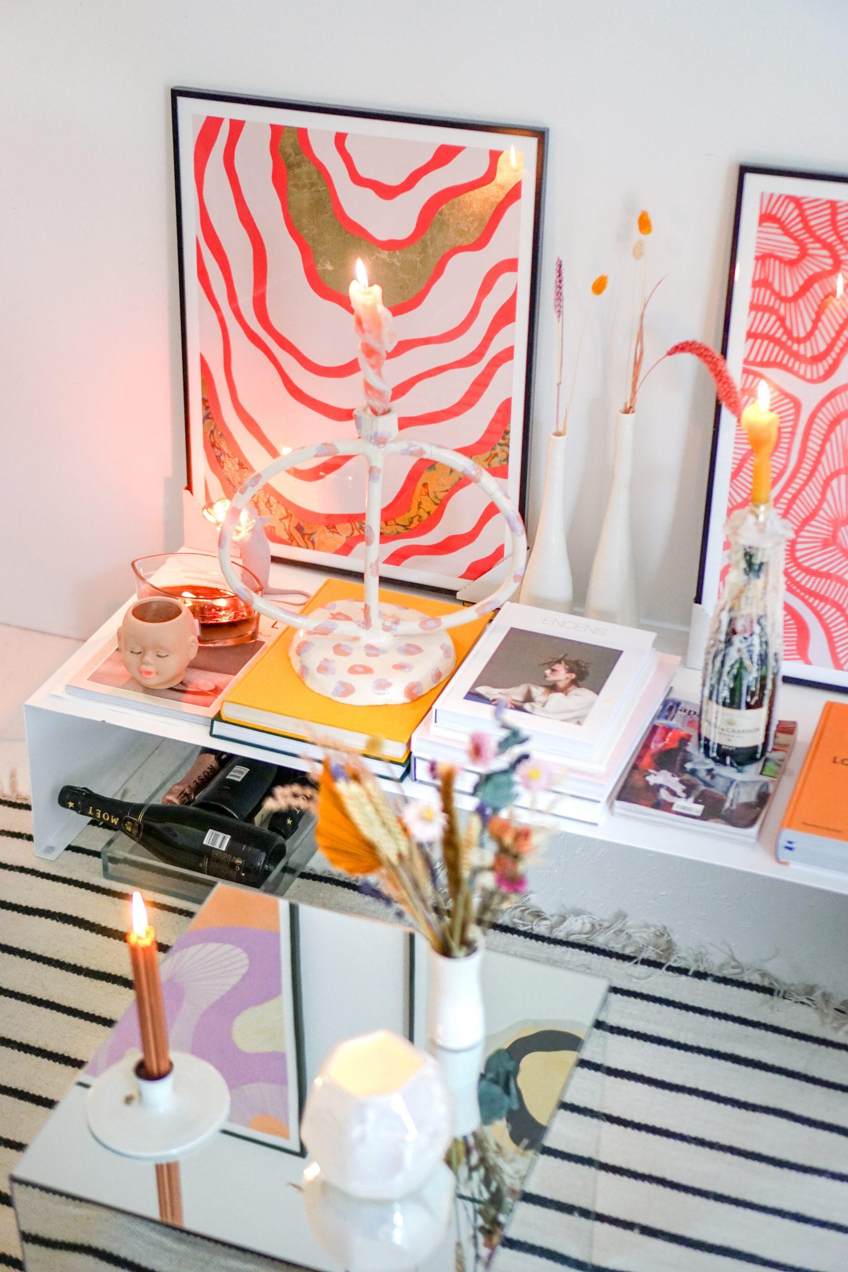 abstracte kunst in huis