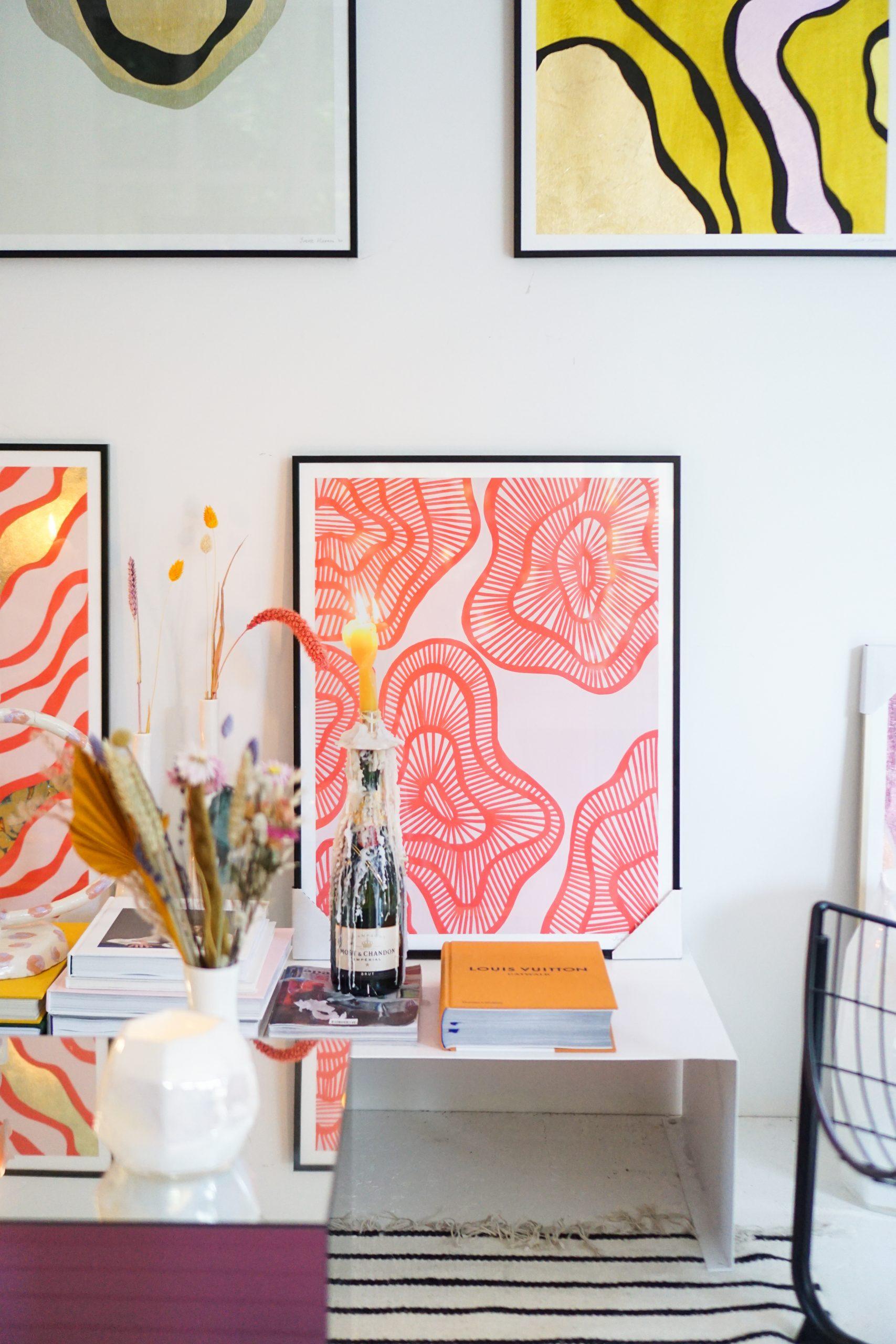 kleurrijk interieur accessoires