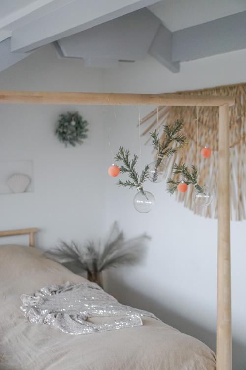 kerst interieur styling slaapkamer