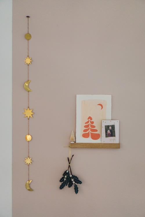 kerst interieur wanddecoratie