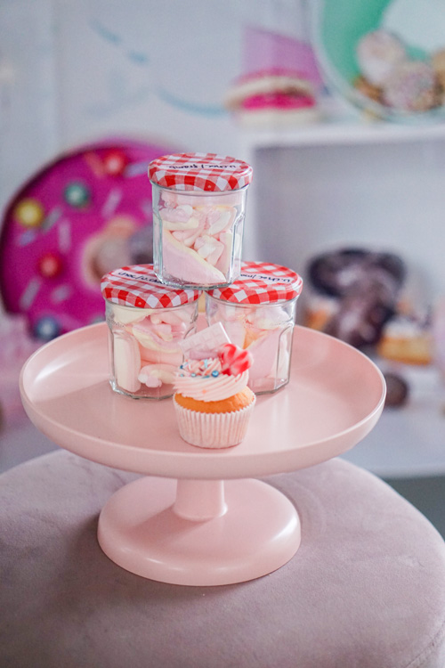 peuterverjaardag in thema candy store cupcake