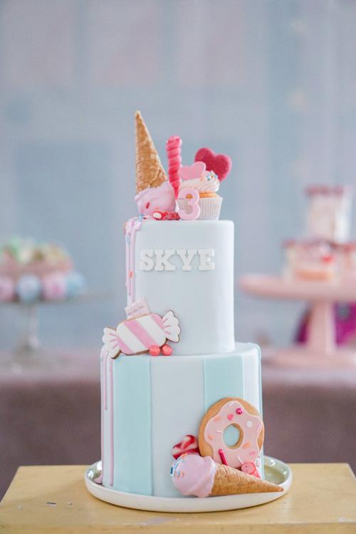 peuterverjaardag in candy store thema